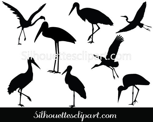 Stork Vector Graphics