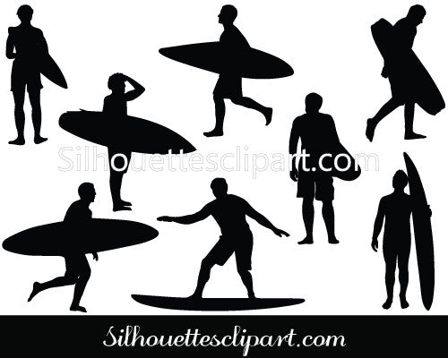 Surfboard Vector Silhouette