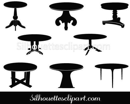 Table Vector Clip Art Pack