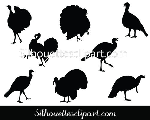 Thanksgiving Bird Silhouette