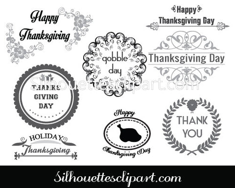 Thanksgiving Day Labels Design