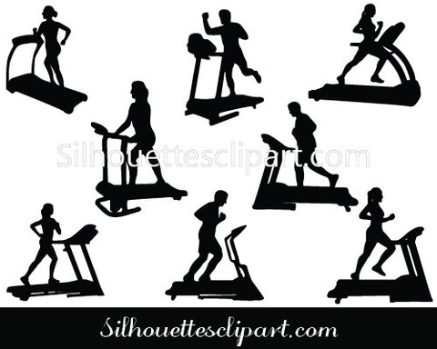 Treadmill Sport Training Silhouette