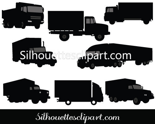 Vehicle Silhouettes of Different Trucks