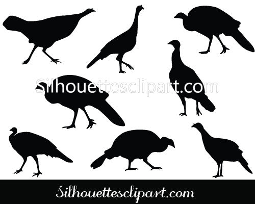 Turkey Hen Thanksgiving Vector