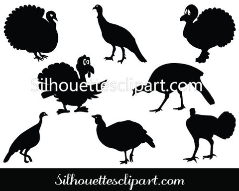 Turkey Silhouette Vector Graphics