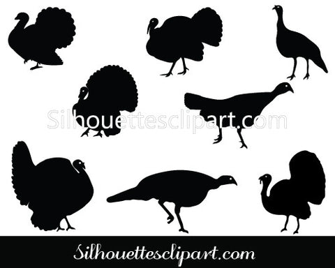 Turkey Silhouette Vector Pack