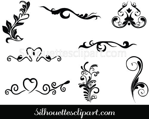 Vector Calligraphic Design Elements