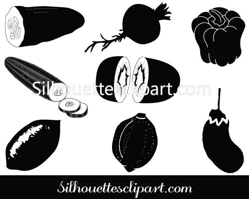 Vegetable Silhouette Clip Art
