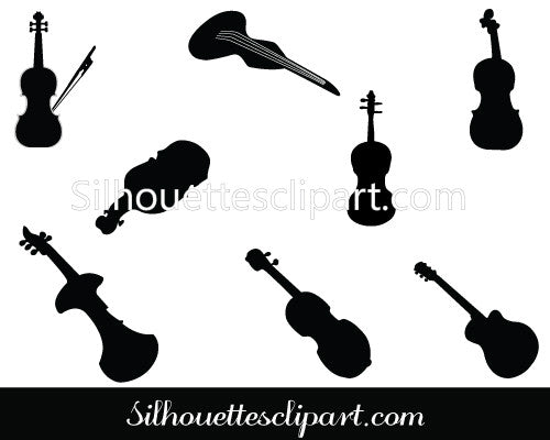 Violin Silhouette Vector Pack