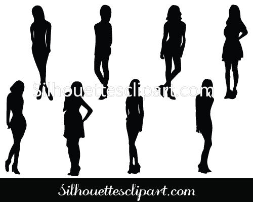 Woman's Silhouette Vector Graphics