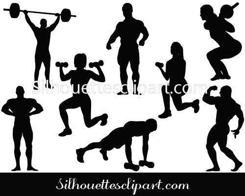 Working Out Silhouette Vector