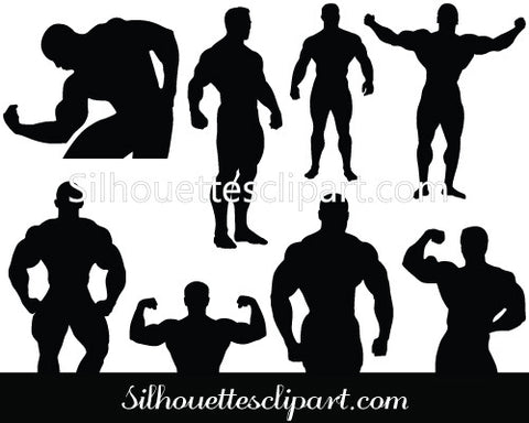 Bodybuilding Vector Graphics