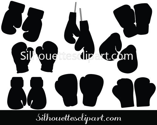 boxing gloves silhouette vector download silhouettes vector