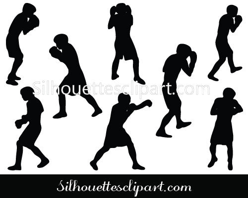 Boxing Silhouete Vector