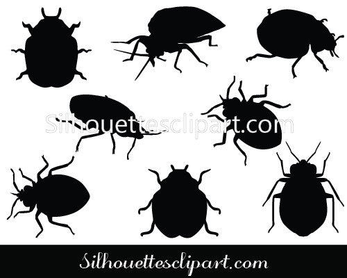 Bugs Silhouette Vector