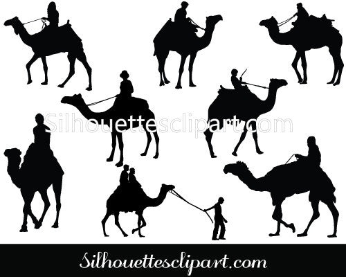 Camel Rider Vector Graphics
