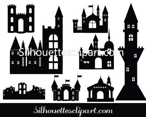 Castle Silhouette Vector - Definition of Medieval Vectors