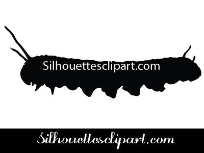 Caterpillar Silhouette Vector Graphics