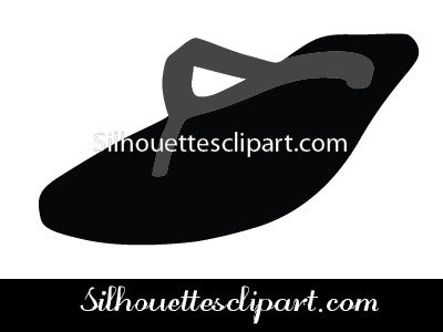 Chappal Silhouette Vector