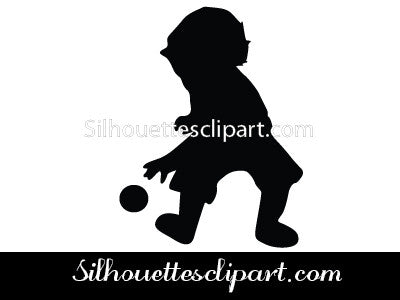 Children Playing Silhouette Vector
