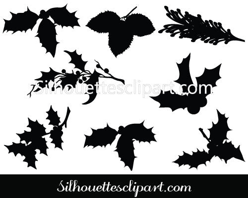 Christmas Leaf Vector Graphics