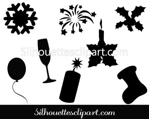 Christmas Related Vector Silhouette - Christmas Vectors