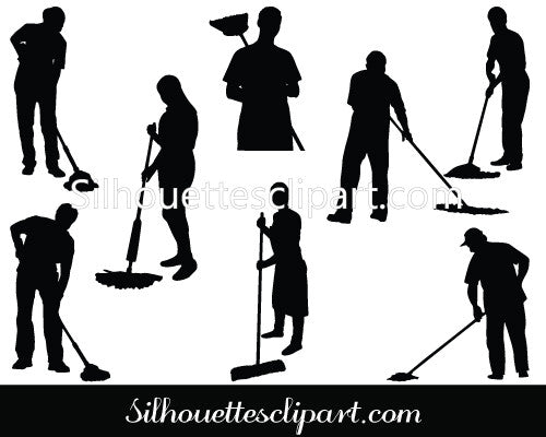 Cleaning Silhouette Vector
