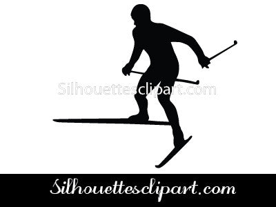 Cross Country Ski Silhouette