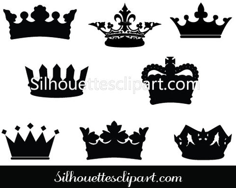 Crown Silhouette Vector Graphics