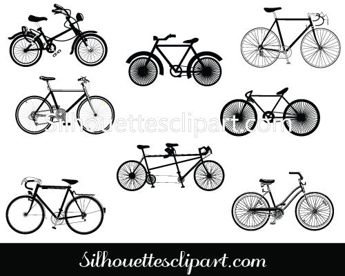 Bicycle Vector Silhouette Illustration