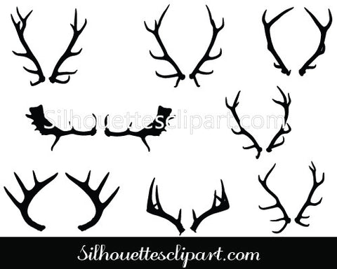 Deer Horns Vector Graphics