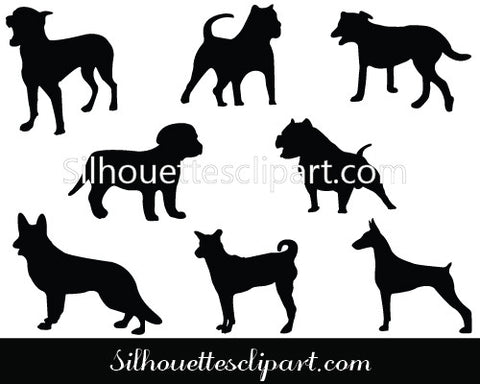 Dogs Silhouette Vector