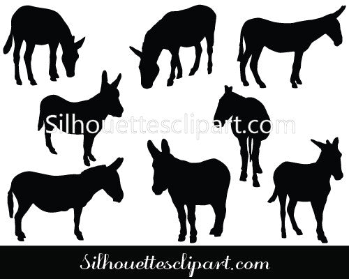 Donkey Vector Graphics