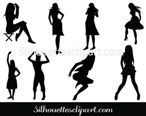 Female Body Clip Art Pack