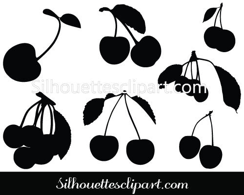 Fruits Cherry Vector Graphics