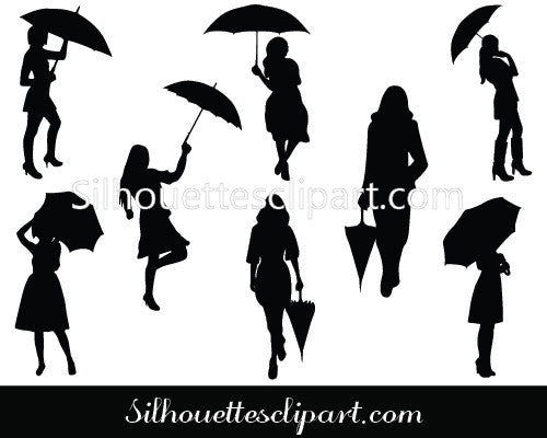 Girls Silhouette Vector