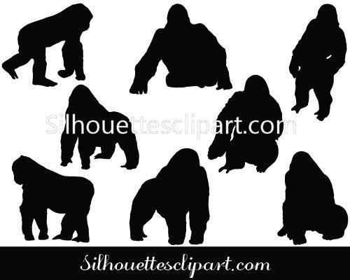 Gorilla Vector Graphics