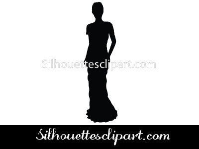 Gowns Silhouette Vector
