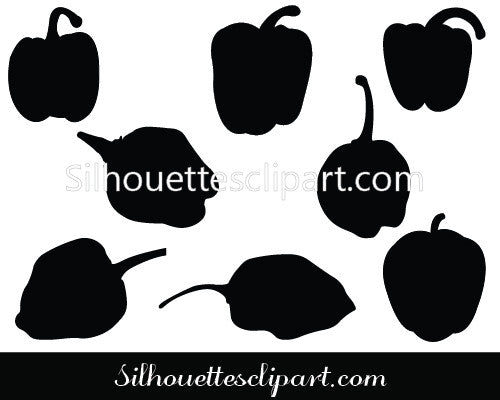 Green Pepper Vector Graphics