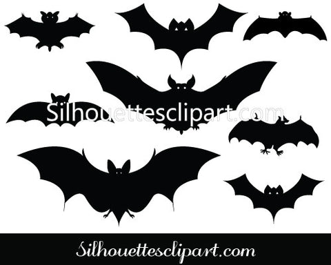 Halloween Bat Silhouette Vector Pack