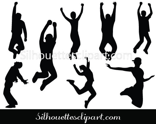 Happy People Silhouette Vector