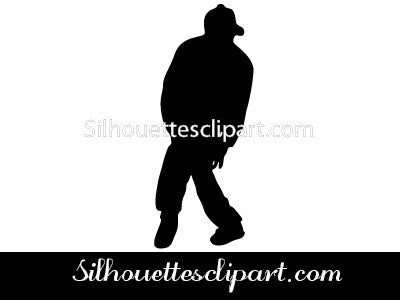 Hip Hop Silhouette Vector