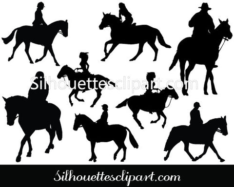 Horse Riding Vector Graphics