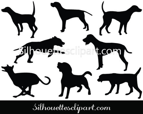 Hound Vector Graphics
