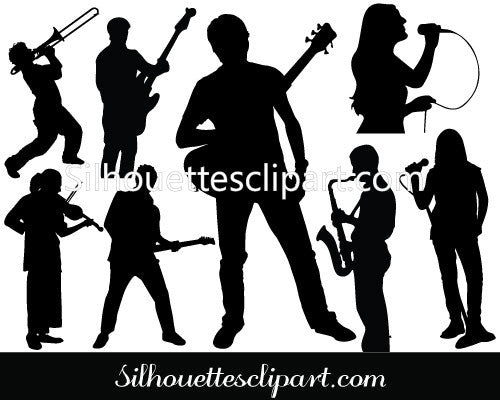 Music Band Silhouette Vector