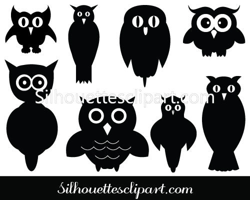 Owl Silhouette Vector Clipart