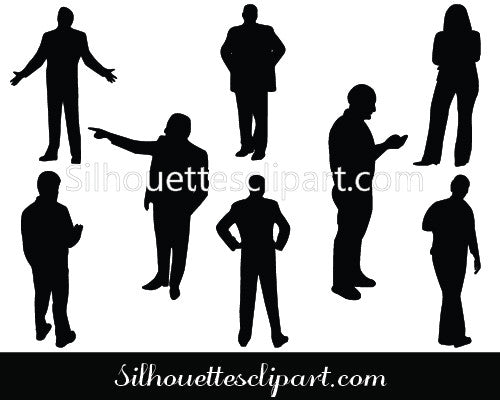 People Silhouette Vector