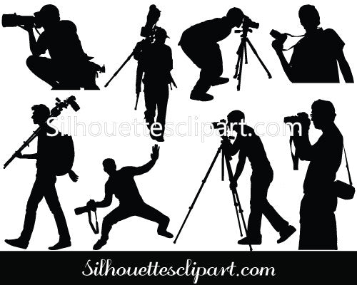 Photographer Vector Graphics