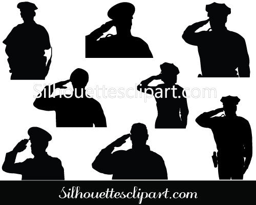 Police Silhouette Vector Graphics