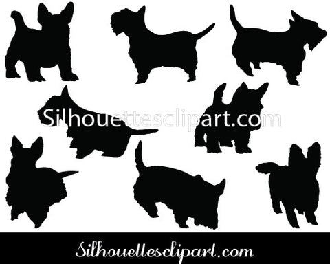 Scottie Dog Silhouette Vector